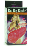 Bad Boy Buddies Vagina 4 Inch Red